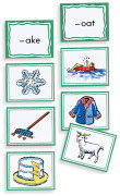 Sound Sorting with Picture Cards-Rhymes