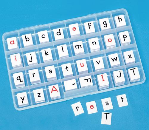 2-Sided Alphabet Letter Tiles (Set of 20)